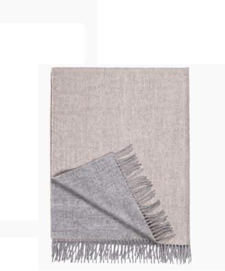 Peruvian Cotton Baby Alpaca Reversible Blanket - Unisex