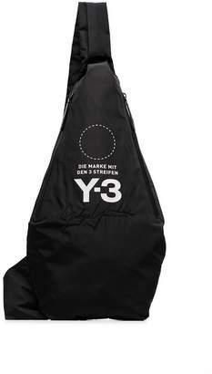 Y-3 black logo print cross-body backpack