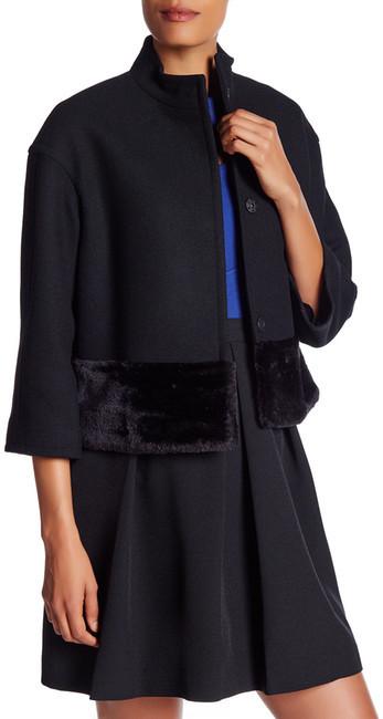 Anne KleinAnne Klein Faux Fur Trim Jacket