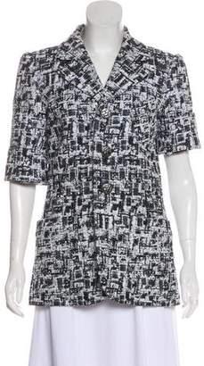Chanel Short Sleeve Tweed Blazer