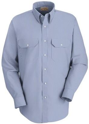 Red Kap Men's Long Sleeve Deluxe Stripe Uniform Shirt