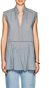 Pas De Calais Women's Ladder-Stitched Cap-Sleeve Tunic - Turquoise