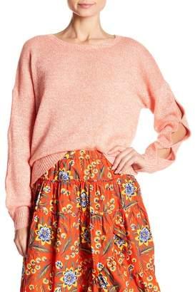 Joie Linen & Cashmere Sleeve Cutout Sweater