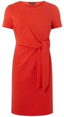 Dorothy Perkins Womens Coral Tie Front Pencil Dress