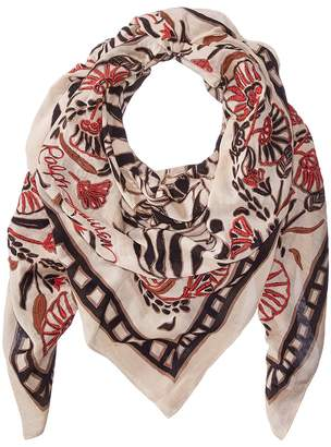 Polo Ralph Lauren Rustic Etched Floral Scarf Scarves