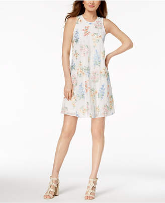 Calvin Klein Floral-Embroidered Shift Dress