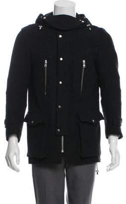 The Kooples Animal Pattern Wool Coat