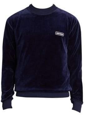 Ami Logo Velour Sweatshirt