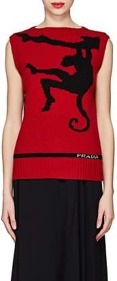 Prada Women's Monkey-Knit Virgin Wool Sweater