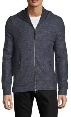 John Varvatos Full-Zip Cotton & Linen Hoodie