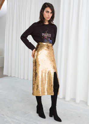 And other stories Sequin Midi Pencil Skirt