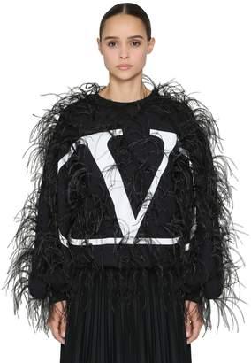 Valentino (ヴァレンティノ) - VALENTINO オーストリッチ コットンジャージースウェットシャツ