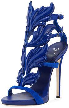 Giuseppe Zanotti Coline Wings Patent 110mm Sandal