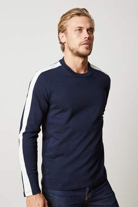 Velvet by Graham & Spencer GARSON STRIPE RIVIERA TERRY CREW NECK SWEATSHIRT