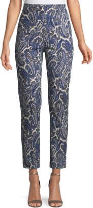 Diane von Furstenberg Mid-Rise Paisley Skinny Pants