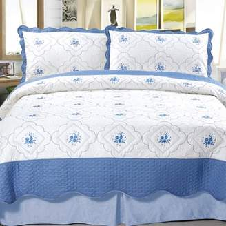 Somerset Home Embroidered Quilt Bedding Set Brianna