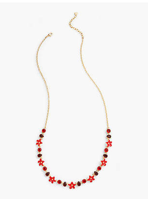 Talbots Floral Enamel Long Necklace