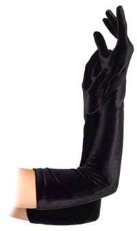 Leg Avenue Women's Velvet Opera Length Gloves, Black, One Size