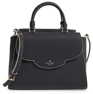 Kate Spade New York Leewood Place Makayla Leather Satchel - Black $398 thestylecure.com