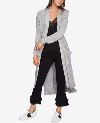 1 STATE 1.state Ribbed Duster Cardigan