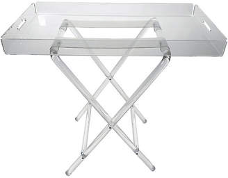 One Kings Lane Vintage Lucite Folding Tray Table - Tobe Reed