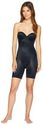 Spanx Suit Your Fancy Strapless Cupped Mid-Thigh Bodysuit Women's Jumpsuit & Rompers One Piece