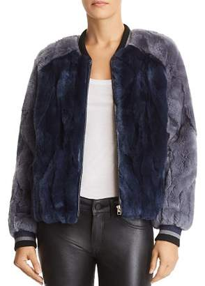 Heartloom Scout Rabbit Fur Bomber Jacket