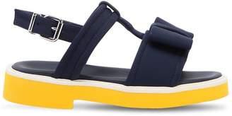Marni Junior Neoprene & Leather Sandals