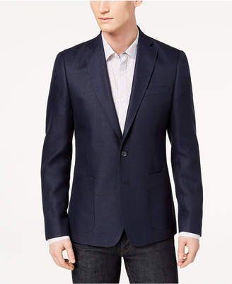 DKNY Men's Modern-Fit Blue Basketweave Sport Coat