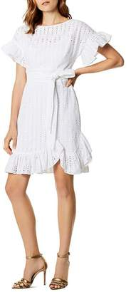 Karen Millen Ruffled Eyelet Dress