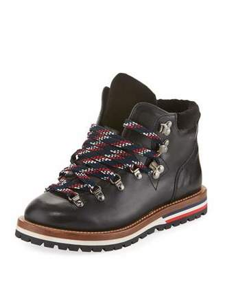 Moncler Blanche Leather Hiking Boot