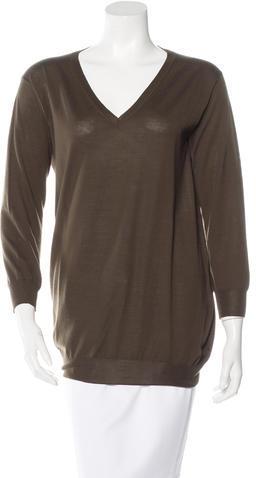 pradaPrada Long Sleeve V-Neck Sweater