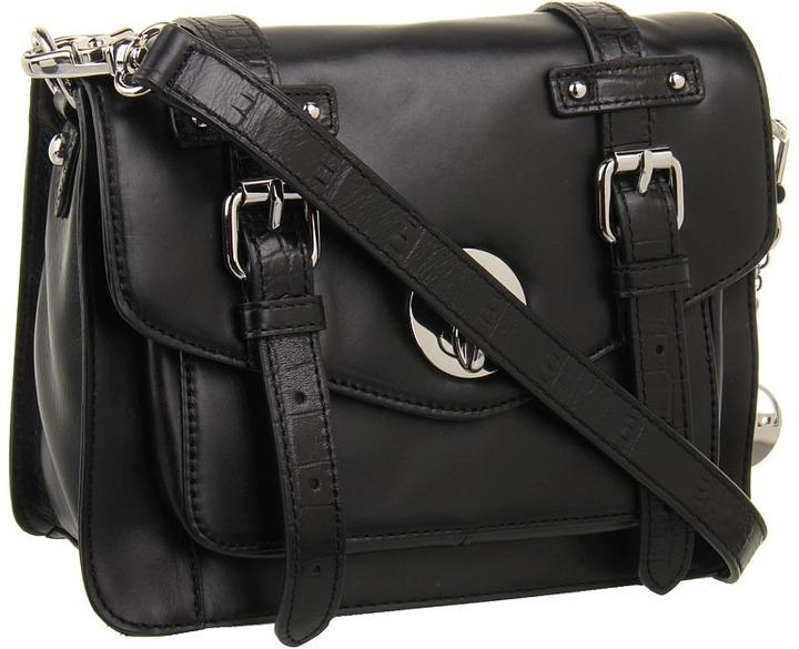 DKNY Nolita - School Bag Flap Crossbody (Black) - Bags and Luggage