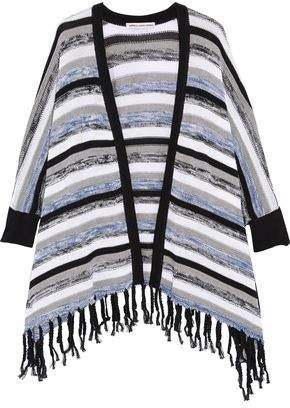 Autumn Cashmere Fringed Striped Cotton Cardigan