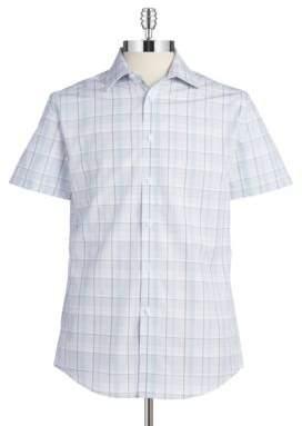 Vince Camuto Plaid Cotton Button-Down Shirt