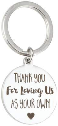 Your Own ENJOYINGTODAY Thank You for Loving me as Keychain Step Father Dad Gift