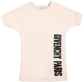 Givenchy Logo Printed Cotton Sweatshirt Dress