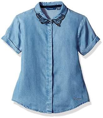 GUESS Girls' Short Sleeve Denim Butterfly Top T-Shirt