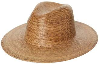 LACK OF COLOR Palm Leaf Fedora Natural