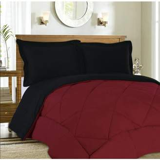 Sweet Home Collection Reversible Goose Down Alternative 3 Piece Comforter and Sham Set