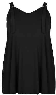 Yours Clothing Women's Plus Size Jersey Vest Top With D Ring Fastenings