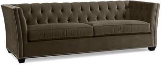 One Kings Lane Elijah Tuxedo Sofa - Charcoal Velvet