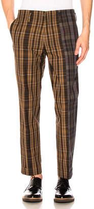Kolor Plaid Panel Trousers