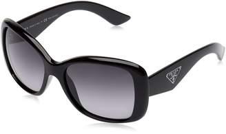 Prada Women's Polarized PR32PS-1AB2A0-57 Butterfly Sunglasses