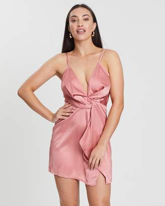 Missguided Strappy Twist Front Shift Dress