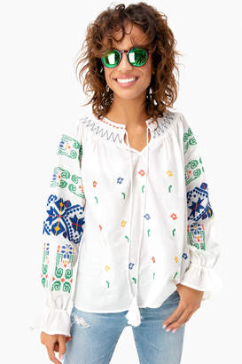 Sunseeker Free the Roses Embroidered Finley Blouse