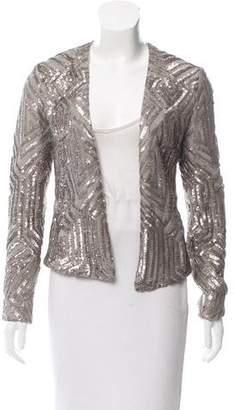 Saylor Sequin-Embellished Open Front Jacket