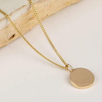 LINDSAY PEARSON Delicate Solid Gold Disc Necklace