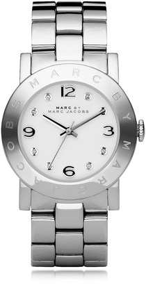 Marc by Marc Jacobs Amy 36 MM Silver Tone Stainless Steel Women's Watch $175 thestylecure.com