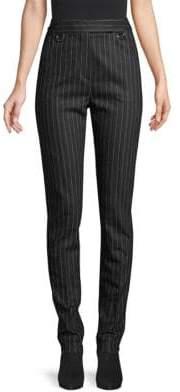 Max Mara Eloisa Pinstripe Wool& Cashmere Blend Trousers